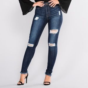 "Fashion nova ""Francia skinny jeans"" dark denim"